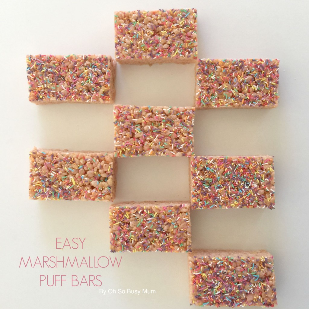 Easy Marshmallow Puff Bars