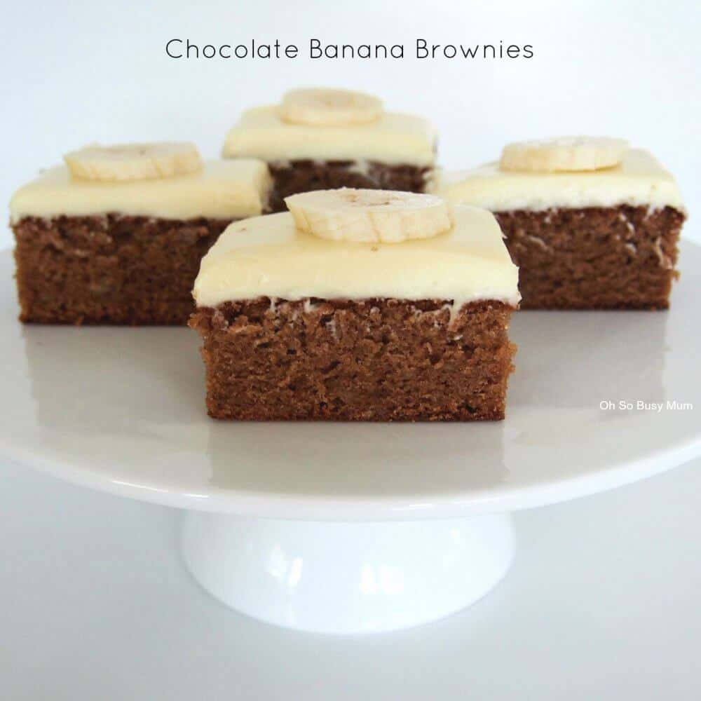 Chocolate Banana Brownies - Oh So Busy Mum