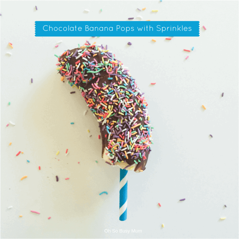 Chocolate Banana Pops with Sprinkles