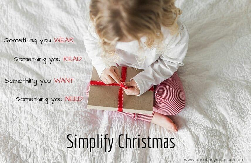 Oh So Busy Mum Simplify Christmas