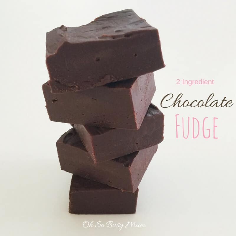 2 Ingredient Chocolate Fudge