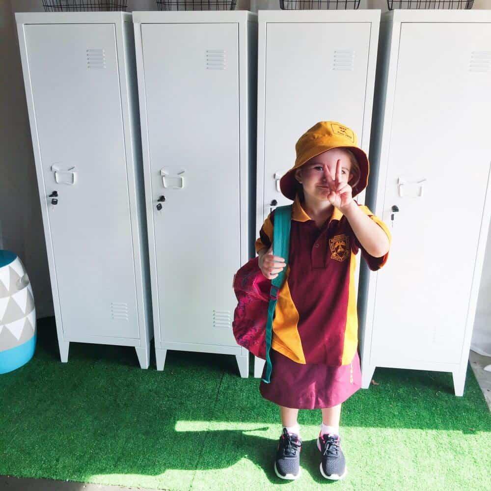 3de19eabe77 Kids School Station Using The Kmart Lockers - Oh So Busy Mum