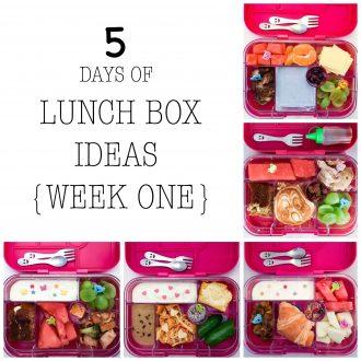5 DAYS OF LUNCH BOX IDEAS {WEEK ONE}