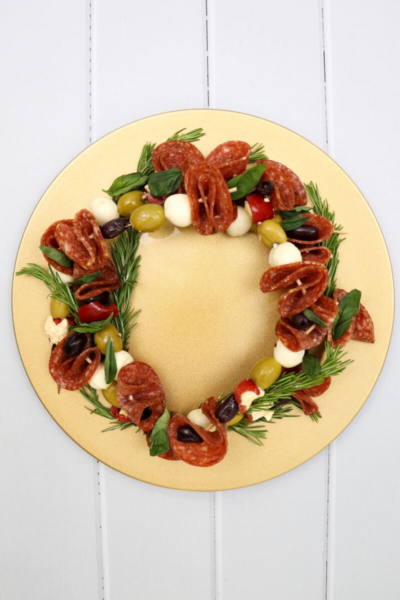 Antipasto Christmas Wreath Skewers